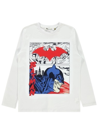 Batman Sweatshirt Beyaz